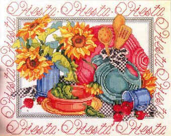 Fiestaware Collection - Cross Stitch Pattern