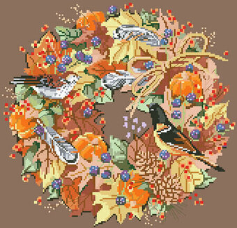 Fall Wreath - Cross Stitch Pattern