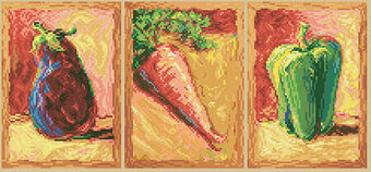 Vegetable Trio - Cross Stitch Pattern