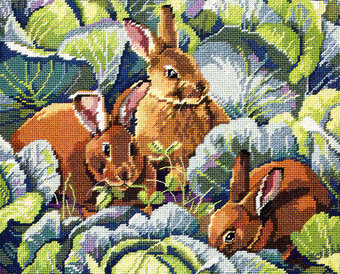 Bunny's Cabbage Garden - Cross Stitch Pattern
