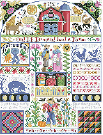Old McDonald's Farm Sampler - Cross Stitch Pattern