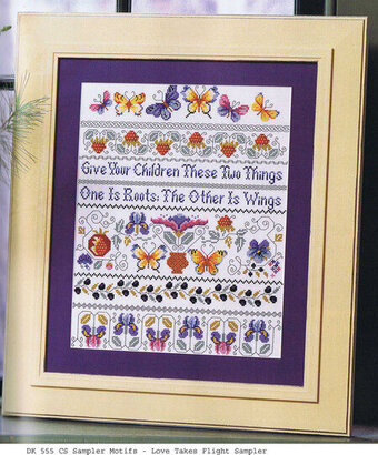 Love Takes Flight Sampler - Cross Stitch Pattern