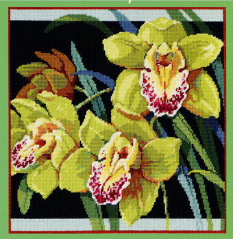 Orchids - Cross Stitch Pattern