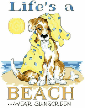 Life's A Beach - Cross Stitch Pattern