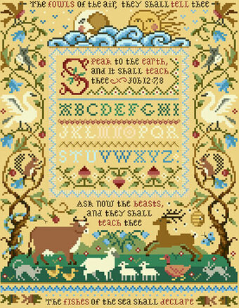 Speak To The Earth Sampler - Cross Stitch Pattern