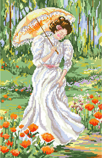 Out for a Stroll - Cross Stitch Pattern