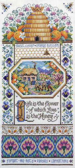Beehive Sampler - Cross Stitch Pattern