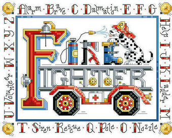ABC's of Fire Fighters - Cross Stitch Pattern