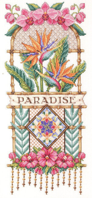 Paradise Floral - Cross Stitch Pattern
