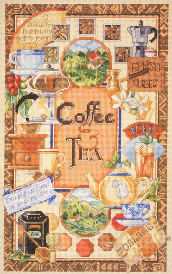 Coffee and Tea Sampler - Cross Stitch Pattern