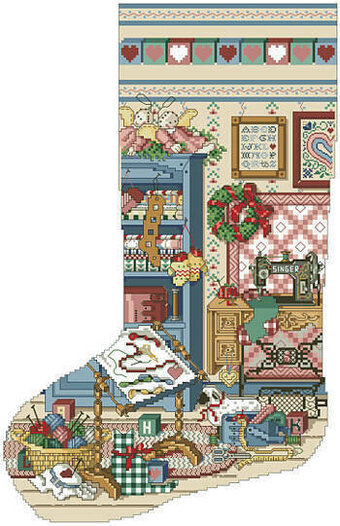 Stitcher's Studio Heirloom Stocking - Cross Stitch Pattern