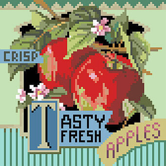 Kooler Design Studio Tasty Fresh Apples Cross Stitch Pattern 123stitch