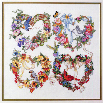 Wreath For All Seasons - Cross Stitch Pattern