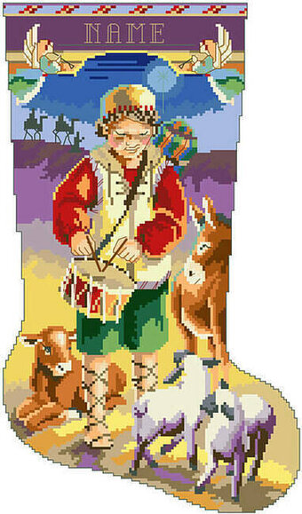 Little Drummer Boy Christmas Stocking - Cross Stitch Pattern