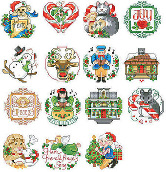 Lotsa Christmas Ornaments 2 - Cross Stitch Pattern