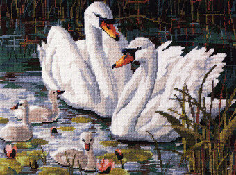 COUNTED CROSS STITCH CHART APPLE BLOSSOM LAKE # 2