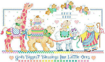 Bless This Baby Birth Record - Cross Stitch Pattern