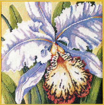 White Orchid - Cross Stitch Pattern