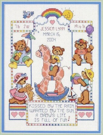CROSS STITCH CHART BABY /& TEDDY  ALPHABET CHARTS  LETTERS /& NUMBERS CHARTS