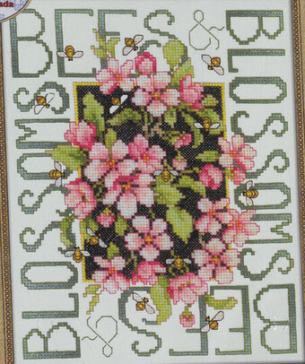 Bees and Blossoms - Cross Stitch Pattern