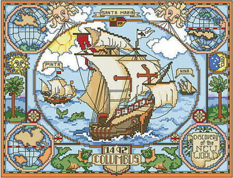 Discovery of the New World - Cross Stitch Pattern