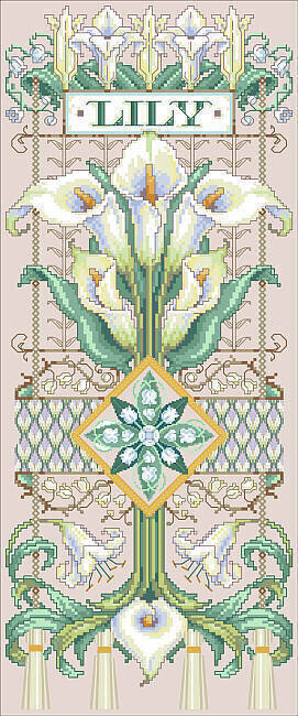 Exquisite Lily Sampler - Cross Stitch Pattern