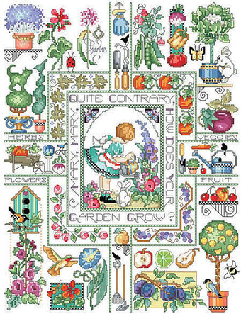 Mary, Mary, Quite Contrary - Cross Stitch Pattern