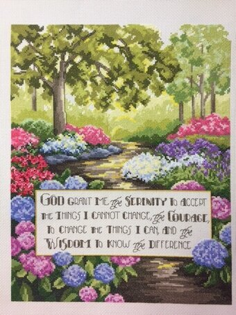 Kooler Design Studio Serenity Prayer Christian Cross Stitch