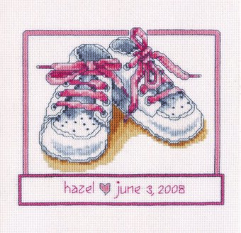 Baby Girl Shoes - Cross Stitch Pattern