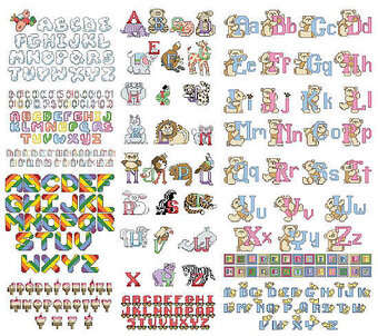 Kids' Alphabets - Cross Stitch Pattern