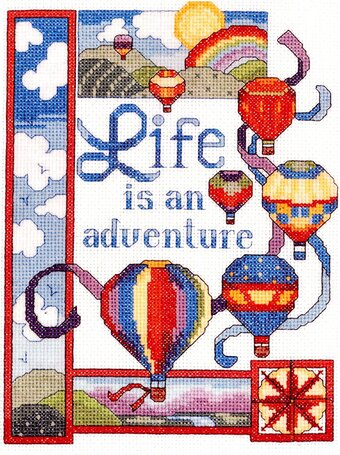 Life is an Adventure - Cross Stitch Pattern