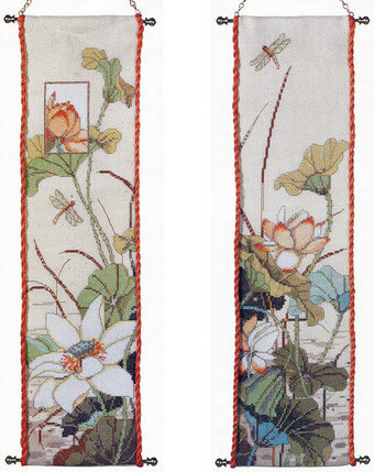 Asian Bellpulls - Cross Stitch Pattern
