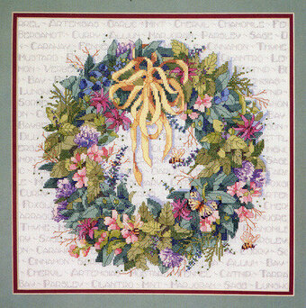 Herb Wreath - Cross Stitch Pattern