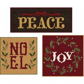 Peace Noel Joy Precut Christmas Pillow Quilt Kit