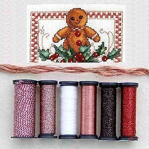 Metallic Thread Gift Collection - Gingerbread