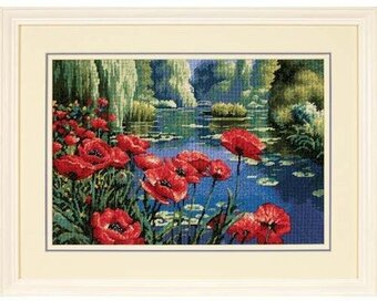 Lakeside Poppies - Needlepoint Kit