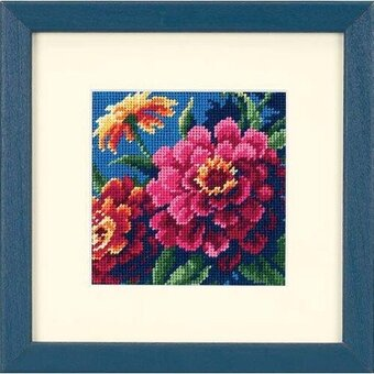 Zinnias - Needlepoint Kit