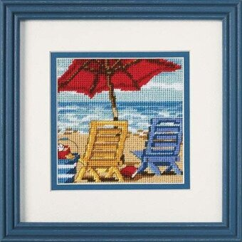 Beach Chair Duo - Needlepoint Kit
