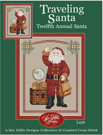 Traveling Santa - Cross Stitch Pattern