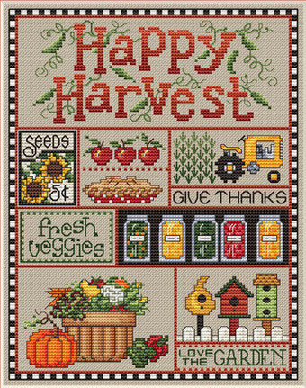 Happy Harvest - Cross Stitch Pattern