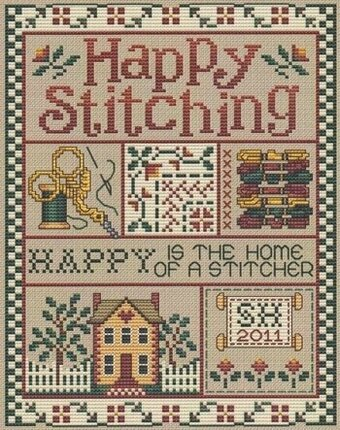 Happy Stitching - Cross Stitch Pattern