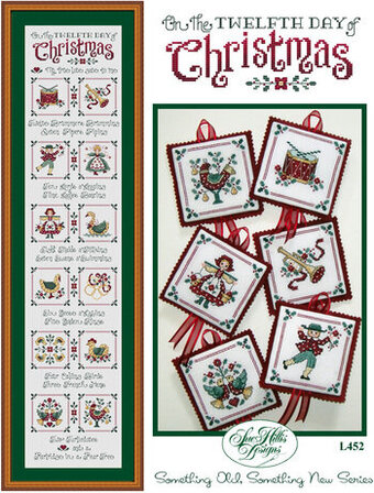 12 Days Of Christmas Cross Stitch.On The Twelfth Day Of Christmas Cross Stitch Pattern
