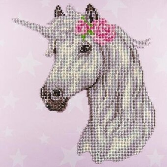 Flower Unicorn - Leisure Arts Diamond Art Kit