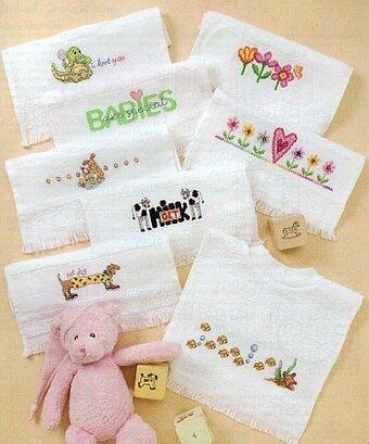 cross stitch baby bibs
