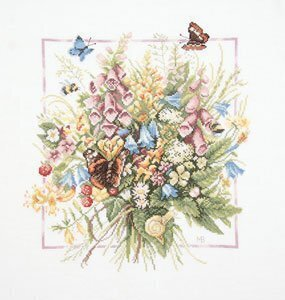 Summer Bouquet w/Aida (#144571) - Cross Stitch Kit