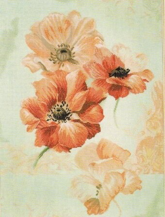 Sky Anemone - Cross Stitch Kit
