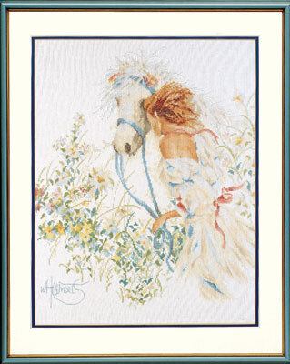 Horse & Flowers - Cross Stitch Kit