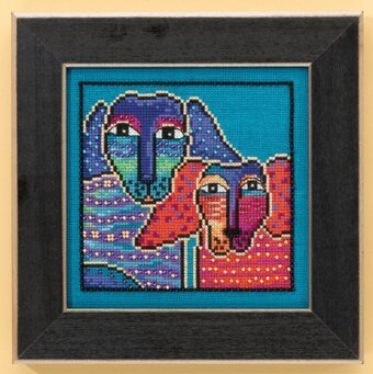 Ol' Blue & Red (Aida) - Cross Stitch Kit