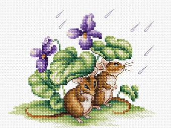 Mice - Cross Stitch Kit