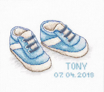 Baby Shoes - Cross Stitch Kit